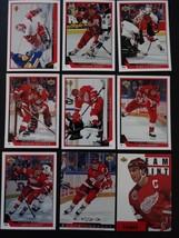 1993-94 Upper Deck Series 1 Detroit Red Wings Team Set 9 Hockey Cards No #91 - $4.00