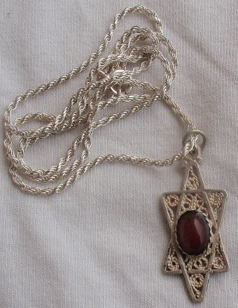 Antique red David Star