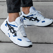 ASICS GEL-DIABLO Men's Sneakers Casual Shoes Blue Leather Ugly Shoes HY7... - $118.90