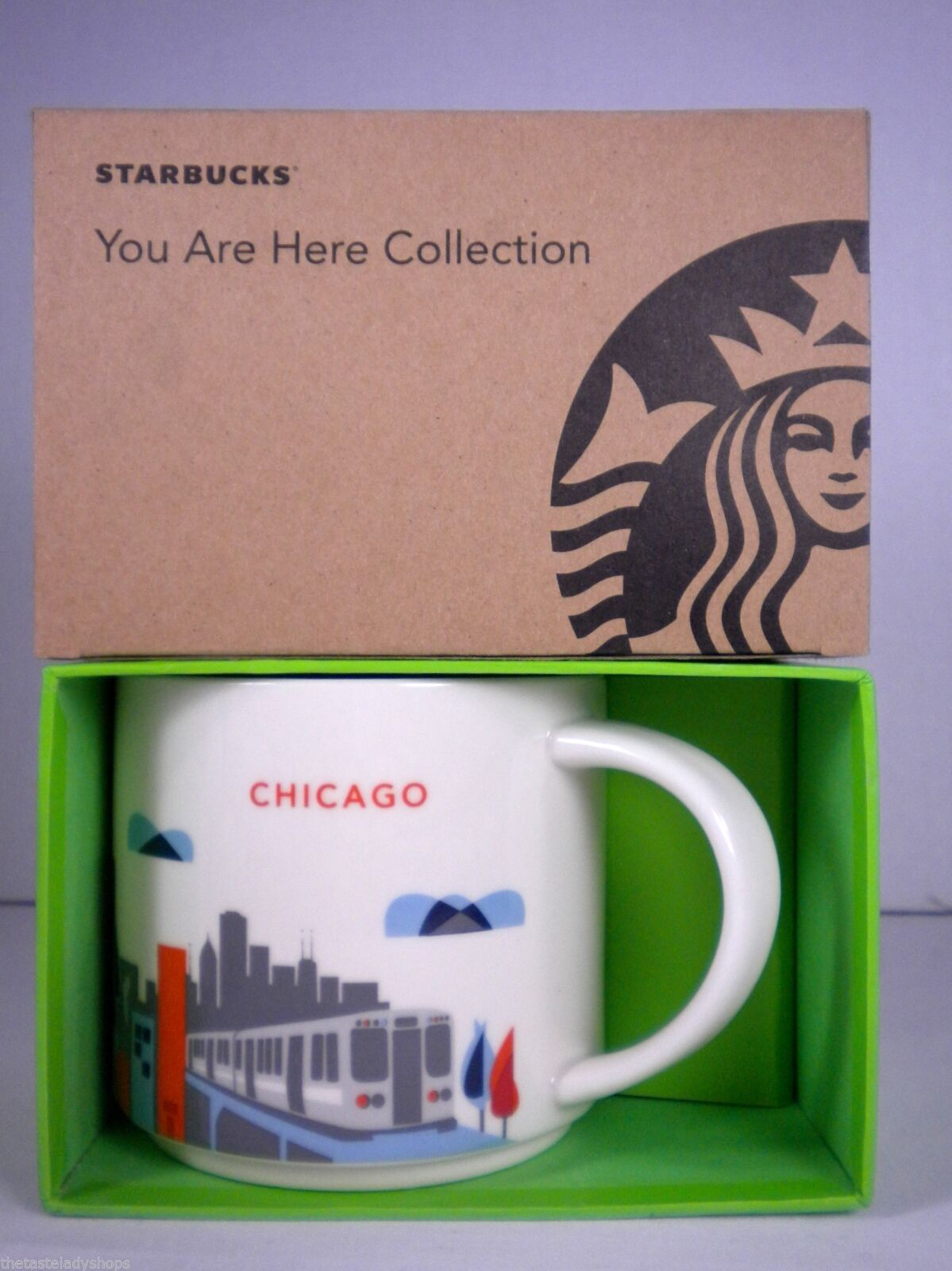 Starbucks Chicago You Are Here Collection Mug Cup NEW in Box Skyline, L Train