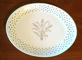 Vintage Golden Wheat Pattern Homer Laughlin Fleur de lis Platter USA  - $17.82