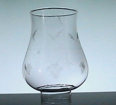 Hurricane Lamp Shade Bulbous Grapes 1 7/8 inch Fitter x 5.5 x 3 - $9.99