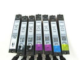 7 Empty Printer ink cartridges  Canon PIXMA 271 271XL Color Black 32781 - $29.69