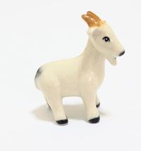 Animals Ceramic 1 pcs White Color Goat Ceramic Hand painted  - $5.80