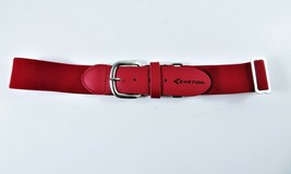 Easton Baseball Belt Youth Kids Red Adjustable Elastic Faux Leather Tabs... - $15.84