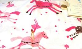 Pottery Barn Kids Pillowcase Standard Lucy Pony Horse Ballerina Pink 30x20 Girls - $19.79