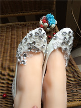 Women's Ivory Wedding Shoes,Lace Wedding Shoes,White bridal shoes flats ... - £32.59 GBP