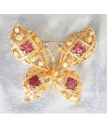 Elegant Avon Baroque Rhinestone &Faux Pearl Gol... - $24.95