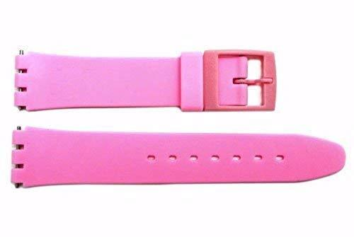 Primary image for Swatch Replacement Pink 17mm Plastic Watch Band Fits Original Gents and Lady Mod