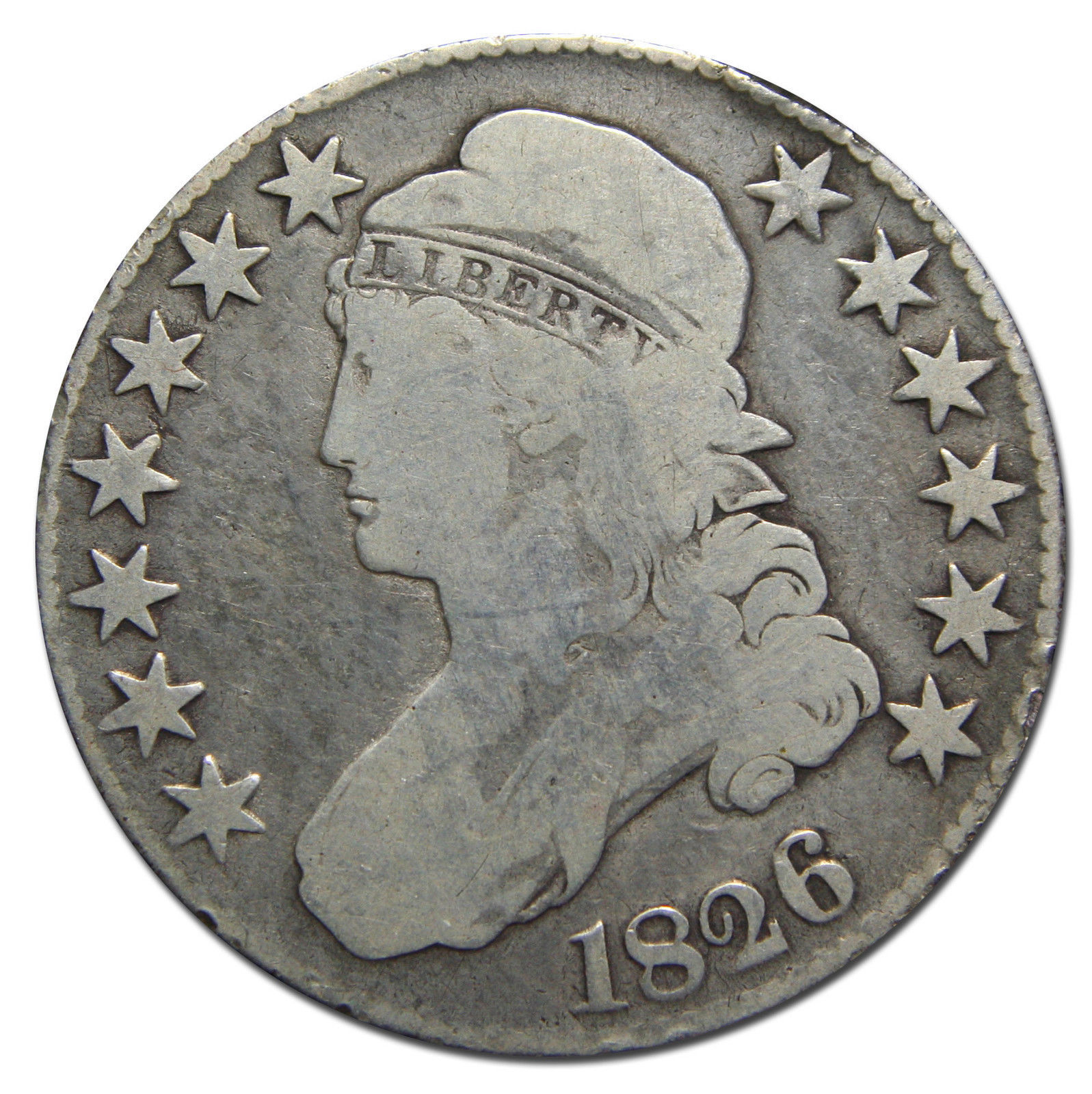 1826 Capped Bust Half Dollar 50¢ Coin Lot# MZ 3102