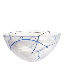 Kosta Boda Serveware White Contrast Bowl, 3 Sizes - $950,79 MXN+