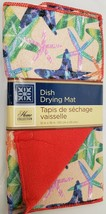 """Microfiber Dish Drying Mat, Approx 12"""" x 18"""", SEALIFE, SEA STARS, red by GR - $10.88"""