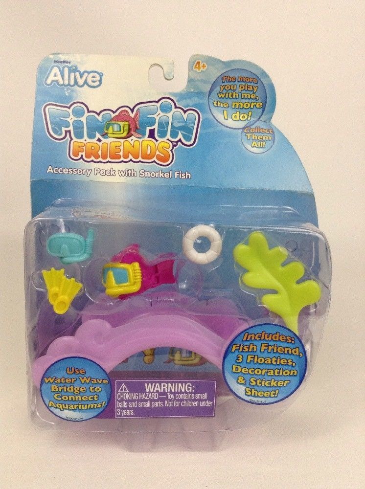 Alive Fin Fin Friends Accessory Pack with Snorkel  Fish Sealed New 2010 WowWee