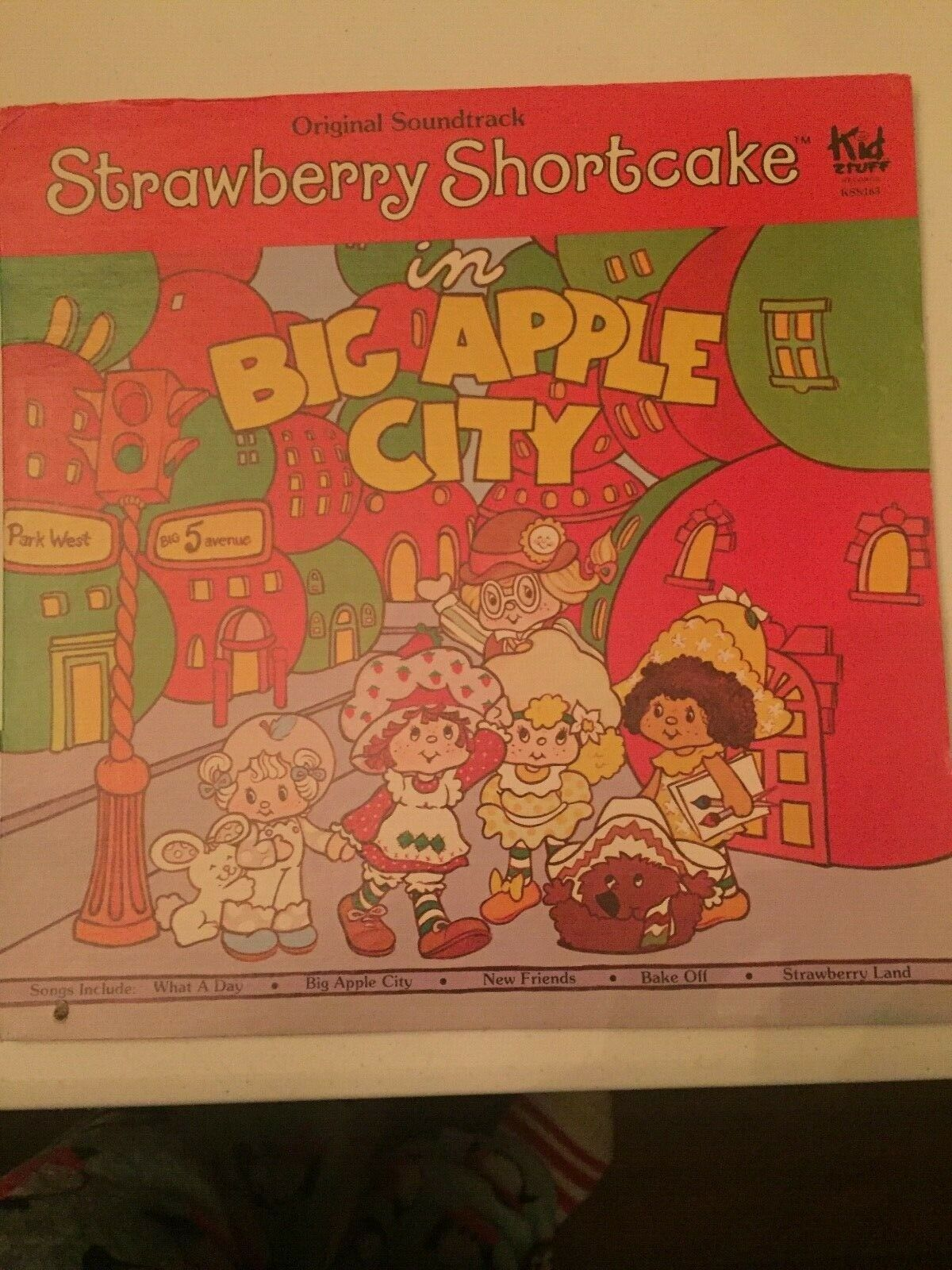 Primary image for Strawberry Shortcake Big Apple City Soundtrack LP Record Album Kid Stuff Vintage
