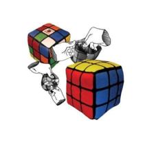 Reversible Rubik's Cube Plush - $15.99