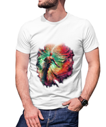 DMT Trippy Psychedelic art T-shirt men White - $15.99+