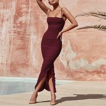 Ship From USA !!!   Women Maxi Mesh Dress  2020 Bodycon Mesh Dress Sexy V Neck P image 2