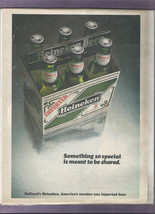 American HEINEKEN Something So Special Is Meant To Be Shared MAGAZINE AD - $2.00