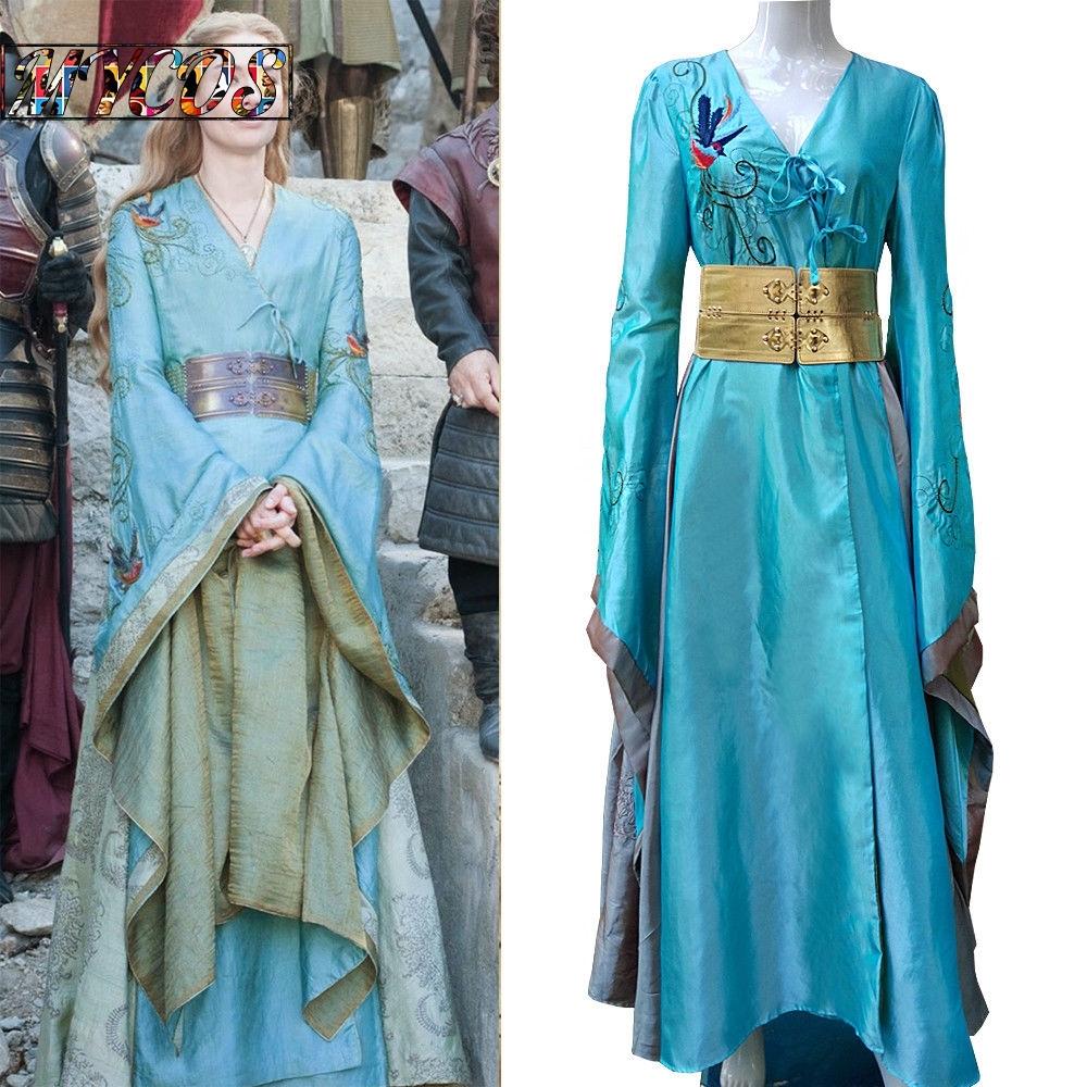 Cosplay queen cersei lannister dress luxury game of thrones 7 costume handmade