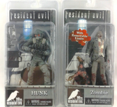 Resident Evil 10th Anniversary NECA Zombie With Cerberus Dog And Hunk Figure - $29.15