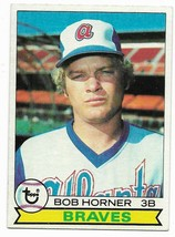 1979 Topps #586 Bob Horner, Atlanta Braves, Rookie - $1.70