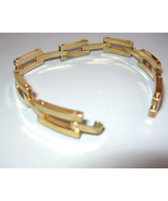 Mens Unisex Vintage Gold Vermiel Box Link Brace... - $55.00