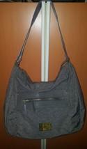 Kipling Purse Large Shoulder Bag Gray Nylon w/metal Monkey - $46.72