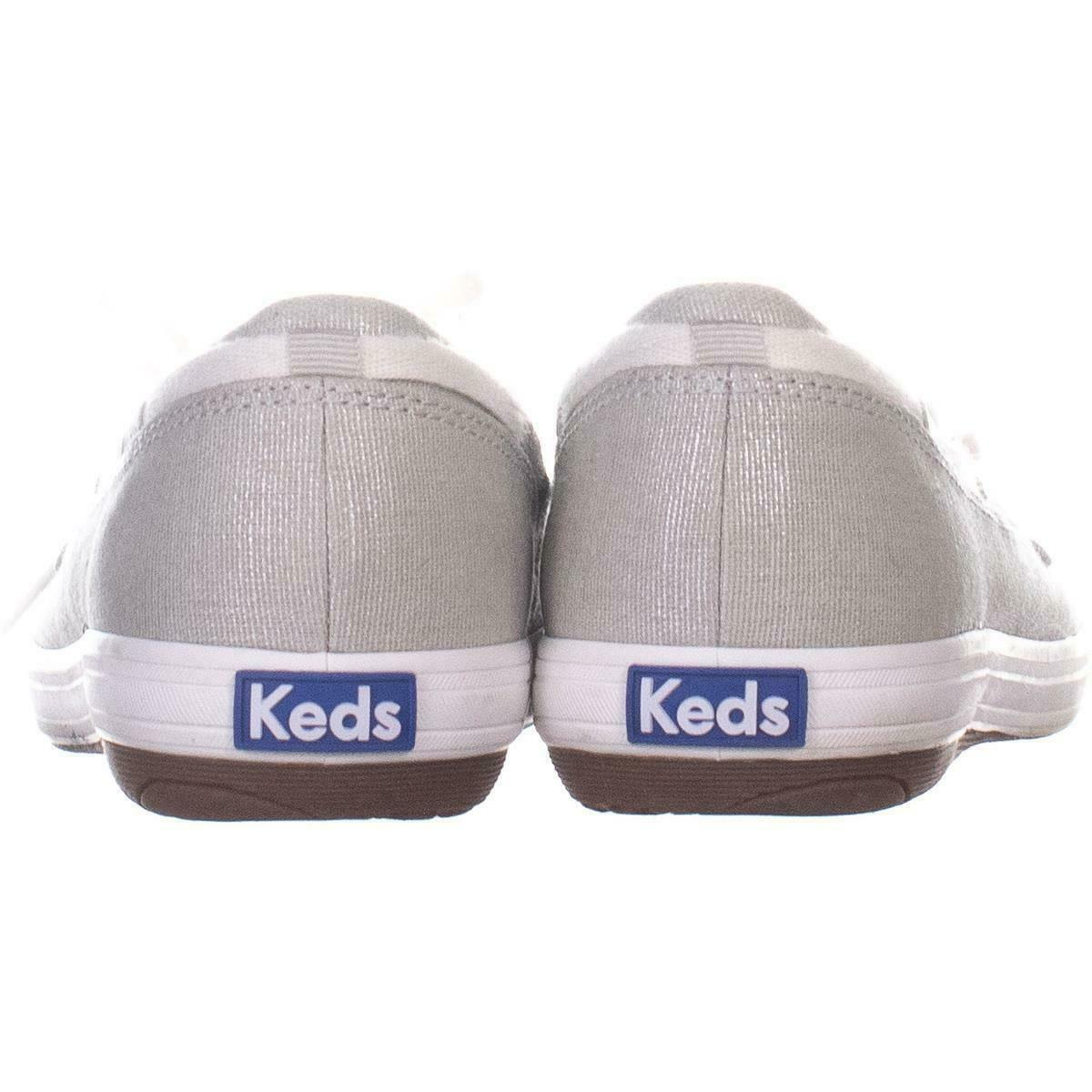 Keds Glimmer Lace Up Boat Shoes 553, Silver, 6.5 US / 37 EU image 3