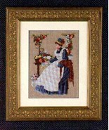 County Fair cross stitch Lavendar & Lace Marilyn Leavitt-Imblum - $10.80