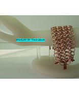 Jewelry By Two Gems (B16) Copper Aluminum 4 row European Chainmaille Bra... - $45.00