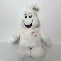 Build A Bear Workshop Boorific Ghost Plush Glow in the Dark Eyes and Hea... - $27.60