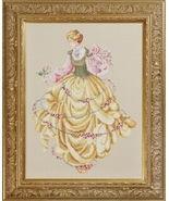 Dance Of The Roses cross stitch Lavendar & Lace Marilyn Leavitt-Imblum - $14.40
