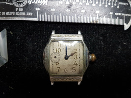 VINTAGE SECONDS AT 9 DIAL BARREL CASE ELGIN WATCH FOR YOU TO FIX OR PARTS - $91.92