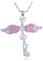 Alilang Light Rose Angelic Dragonfly Sprite Fairy Swarovski Crystal Elem... - $51.84