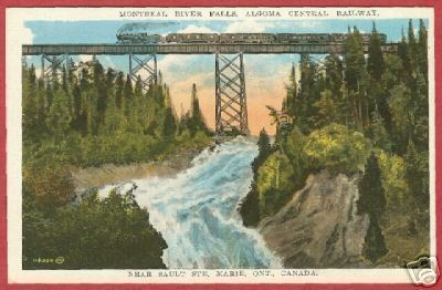 Primary image for Soo Ontario Postcard River Falls Algoma Central RR BJs