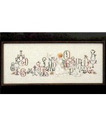 Enchanted Alphabet cross stitch Lavendar & Lace Marilyn Leavitt-Imblum - $10.80
