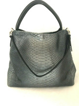 Coach Phoebe Metallic Snake Handbag in Metallic Gray - $189.99