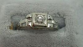 18K Gold Filigree .22ct Genuine Natural Diamond Ring (#J869) - $467.50
