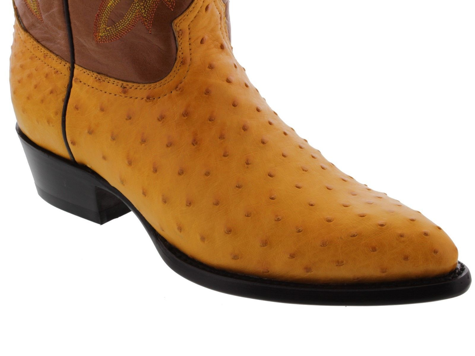 mens yellow butter real ostrich skin crocodile leather western cowboy boots