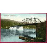 FRANKLIN PENNSYLVANIA Valley Bridge Boat PA Postcard - $9.00