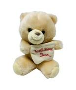 VINTAGE ANIMAL FAIR PLUSH TOOTH FAIRY TEDDY BEAR STUFFED ANIMAL w POCKET... - $14.50