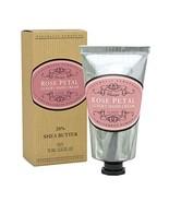 Naturally European ROSE PETAL Luxury Hand Cream Boxed 20% Shea Butter 75ml - $12.19