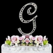 Vintage ~ Swarovski Crystal Wedding Cake Topper ~ Letter G - $15.52