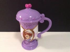 Disney On Ice Purple Plastic Flip Top Cup Sophia - $7.69