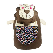 [Smile Lion] Cotton Fabric Art School Outdoor Backpack - $30.99