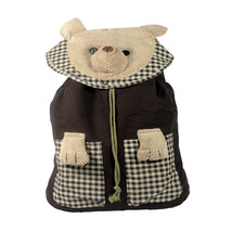 [Lazy Bear] Cotton Fabric Art School Outdoor Backpack - $31.99