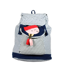 [Lovely Doll] Cotton Fabric Art School Outdoor Backpack - $29.99