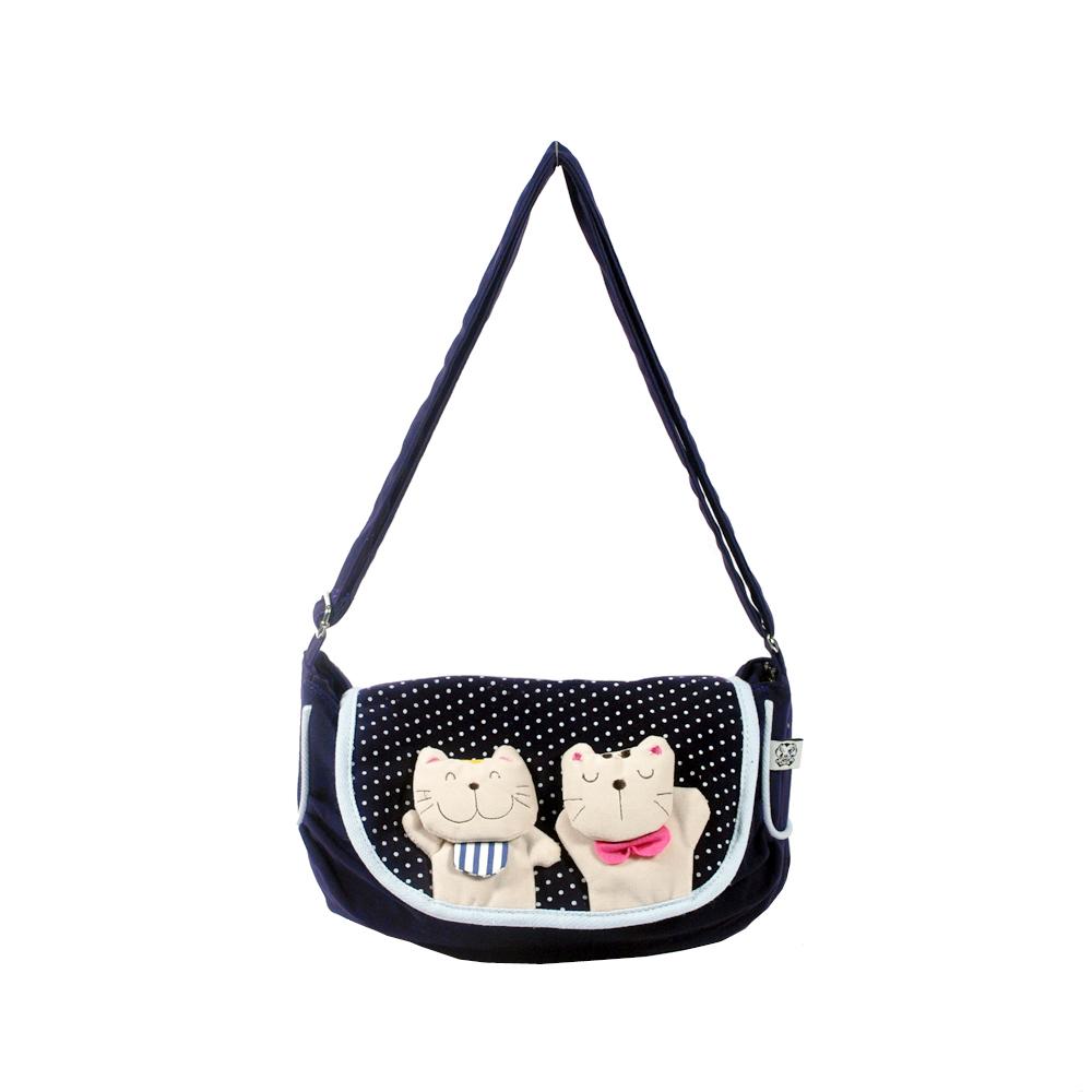 [Lazy Cat] Cotton Canvas Shoulder Bag Swingpack Travel Bag - $25.99