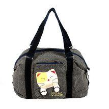 [Sweet Mio Mio] Cotton Canvas Shoulder Bag Swingpack - $26.99