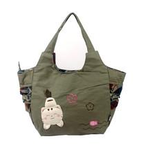 [Pretty Cat] Cotton Canvas Shoulder Bag Swingpack - $38.41 CAD